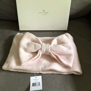 Kate Spade Pink Bow Neckwarmer NWT